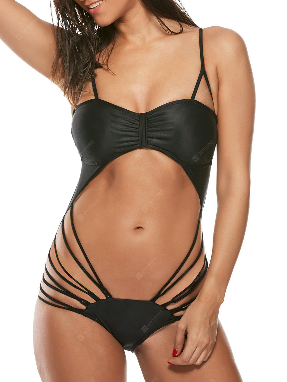 Cut Out Strappy Monokini Swimwear