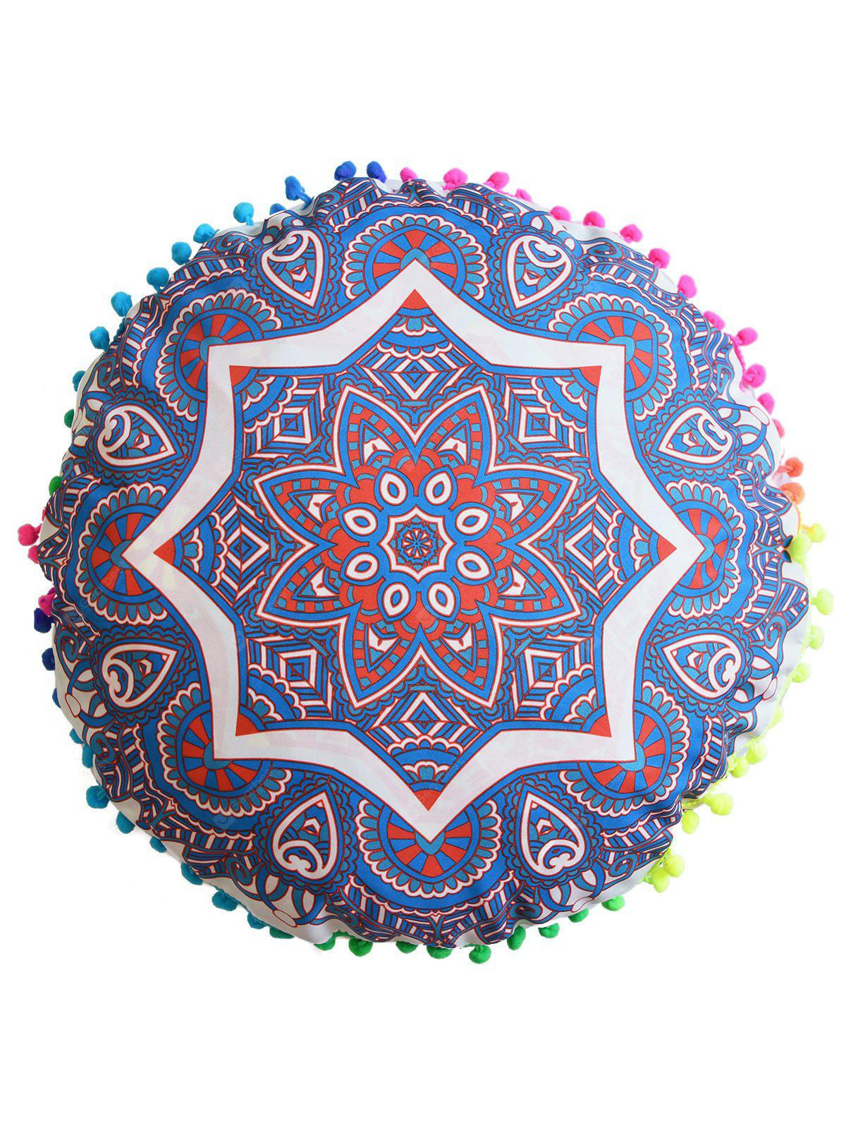 Indian Mandala Round Cushion Pouf Pillow Case