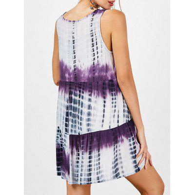 Tie Dye Drop Waist Casual Dress Female