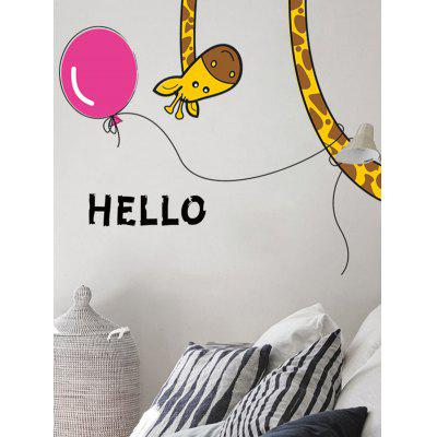 Buy Cartoon Giraffe Removable Bedroom Wall Sticker COLORMIX Home & Garden > Home Decors > Wall Art > Wall Stickers for $3.97 in GearBest store