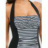 Stripe Ruched One Piece Swimsuit - STRIPE