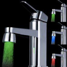 Colorful Water Stream LED Light Luminous Faucet