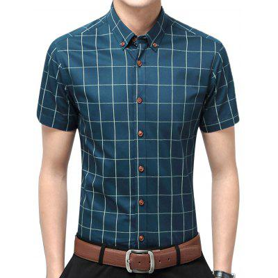 Short Sleeve Checked Casual Shirt