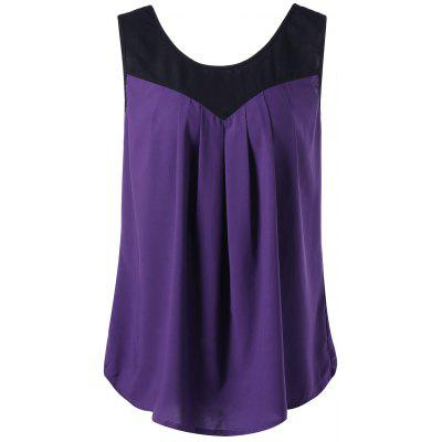 Plus Size Curved Zwei Tone Tank Top