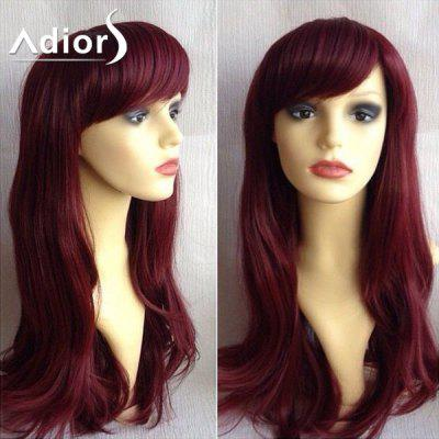 Buy WINE RED Adiors Long Side Bang Silky Straight Synthetic Wig for $19.55 in GearBest store