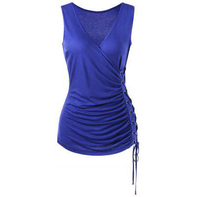 Lace Up Draped Surplice Tank TopTank Tops<br>Lace Up Draped Surplice Tank Top<br><br>Material: Rayon, Spandex<br>Package Contents: 1 x Tank Top<br>Pattern Type: Solid<br>Shirt Length: Regular<br>Style: Fashion<br>Weight: 0.2500kg