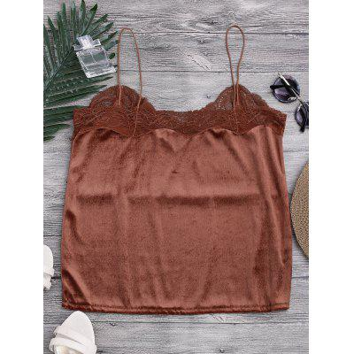 Lace Velvet Camisole TopPajamas<br>Lace Velvet Camisole Top<br><br>Material: Acetate, Polyester<br>Package Contents: 1 x Top<br>Pattern Type: Floral<br>Weight: 0.2000kg