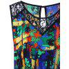 Plus Size Lace Insert High Low Hem Tank Top - COLORMIX
