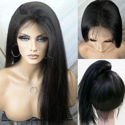 Ultra Long Free Part Yaki Silky Straight Lace Front Synthetic Wig