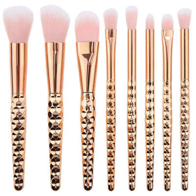 8Pcs Honeycomb Handle Design Multifunction Makeup Brushes Set