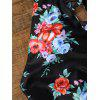 Backless Plunging Neckline One Piece Floral Swimwear - NOIR