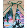 Halter Tropical Printd Backless Badeanzug - COLORMIX