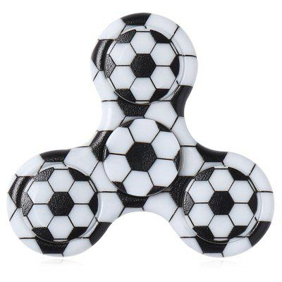 Fiddle Toy Plastic Soccer Patterned Fidget Spinner
