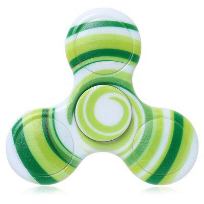 Buy GREEN Anti-stress Toy Plastic Patterned Fidget Spinner for $4.32 in GearBest store