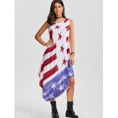 American Flag Print Asymmetrical Tank DressWomens Dresses<br>American Flag Print Asymmetrical Tank Dress<br><br>Dress Type: Patriotic Dress,Tank Dress<br>Dresses Length: Mid-Calf<br>Elasticity: Elastic<br>Material: Polyester, Cotton<br>Neckline: Round Collar<br>Package Contents: 1 x Dress<br>Pattern Type: American Flag<br>Season: Summer<br>Silhouette: Asymmetrical<br>Sleeve Length: Sleeveless<br>Style: Casual<br>Weight: 0.3700kg<br>With Belt: No