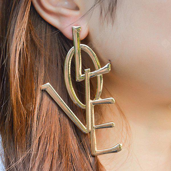 GOLDEN Statement Letter Love Alloy Earrings