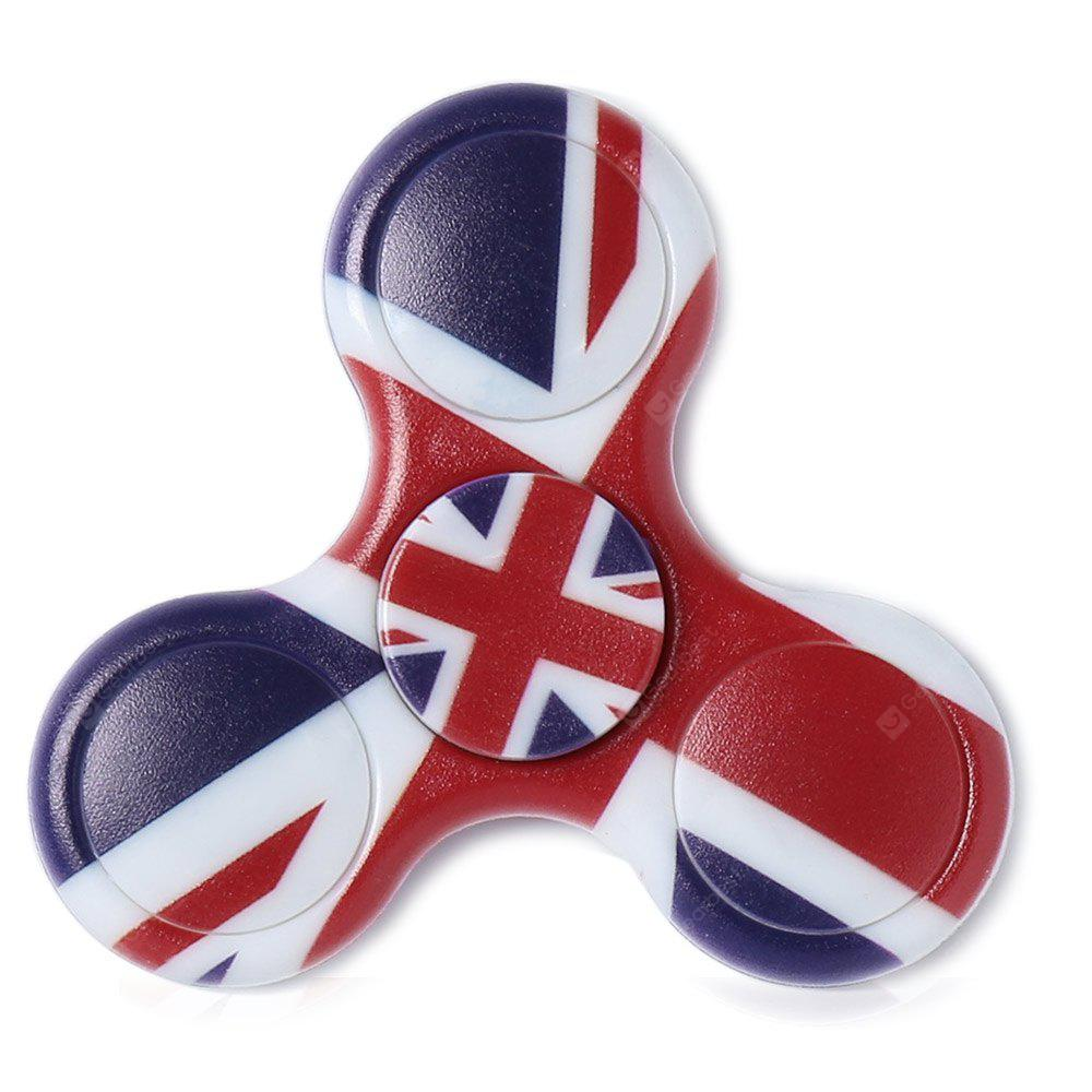 Plastic National Flag Patriotic Patterned Fidget Spinner, DEEP BLUE, Toys & Hobbies, Stress & Fidget Toys, Fidget Spinners