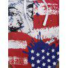 Cross Back American Flag Patriotic Swimsuit - COLORMIX