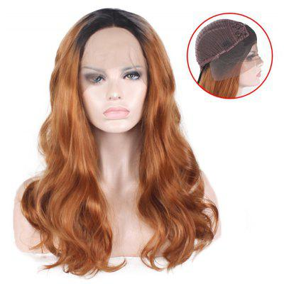 Long Free Part Colormix Shaggy Wavy Lace Front Synthetic Wig