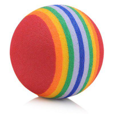EVA Floating Water Rainbow Ball Pet Cat Dog Bouncy Pellet Toy