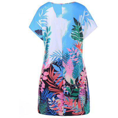 Tropical Leaf Print Hawaiian DressWomens Dresses<br>Tropical Leaf Print Hawaiian Dress<br><br>Dresses Length: Knee-Length<br>Material: Polyester<br>Neckline: Round Collar<br>Package Contents: 1 x Dress<br>Pattern Type: Plant<br>Season: Summer<br>Silhouette: Shift<br>Sleeve Length: Short Sleeves<br>Style: Casual<br>Weight: 0.3300kg<br>With Belt: No