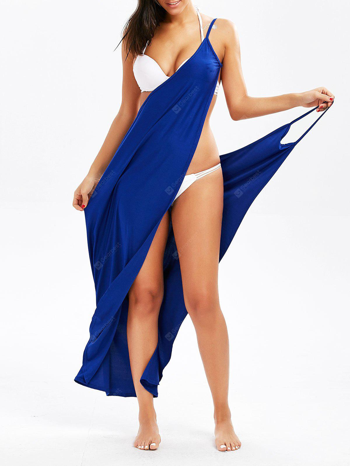 Spaghetti Strap Wrap Cover-Up Dress