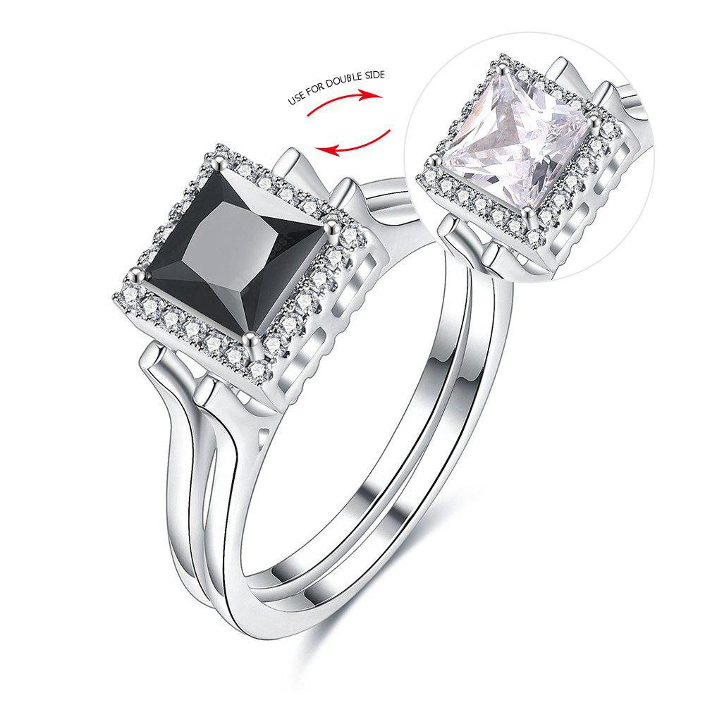Faux Gem Geometric Double Sided Ring