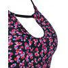Padded Floral Tankini Set - FLORAL