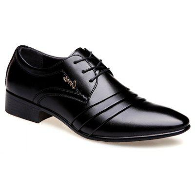 Pointed Toe Lace Up Formal Shoes