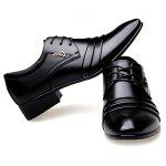 Pointed Toe Lace Up Formal Shoes - BLACK
