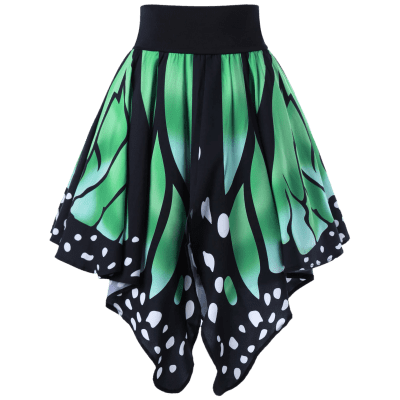 High Waist Butterfly Shape Skirt