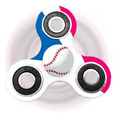 Buy WHITE Fiddle Toy Baseball Patterned Tri-bar Plastic Fidget Spinner for $5.47 in GearBest store