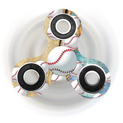 Buy EARTHY Fiddle Toy Baseball Patterned Tri-bar Plastic Fidget Spinner for $5.41 in GearBest store