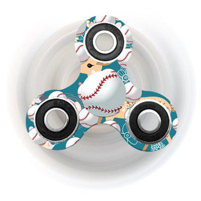 Buy TURQUOISE Fiddle Toy Baseball Patterned Tri-bar Plastic Fidget Spinner for $4.82 in GearBest store