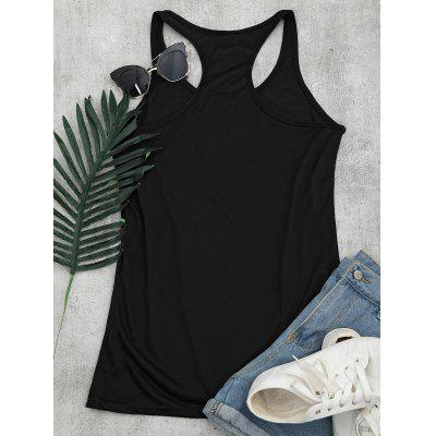 Racerback Graphic Tunic Tank TopTank Tops<br>Racerback Graphic Tunic Tank Top<br><br>Material: Cotton, Polyester, Spandex<br>Package Contents: 1 x Tank Top<br>Pattern Type: Print<br>Shirt Length: Long<br>Style: Casual<br>Weight: 0.2000kg