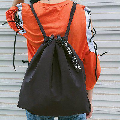 Convertible Nylon Drawstring BackpackBackpacks<br>Convertible Nylon Drawstring Backpack<br><br>Closure Type: String<br>Embellishment: Ribbons<br>Gender: For Women<br>Handbag Size: Medium(30-50cm)<br>Handbag Type: Backpack<br>Main Material: Nylon<br>Occasion: Versatile<br>Package Contents: 1 x Backpack<br>Pattern Type: Solid<br>Size(CM)(L*W*H): L43CM*H49CM<br>Style: Casual<br>Weight: 0.2620kg