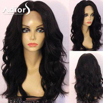 Adiors Long Center Parting Shaggy Wavy Synthetic Wig