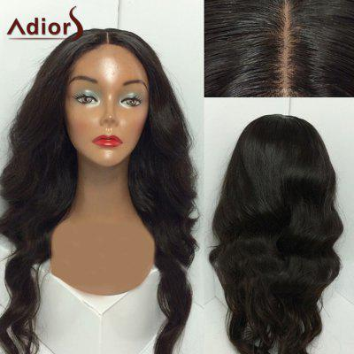 Adiors Middle Parting Shaggy Long Wavy Synthetic Wig