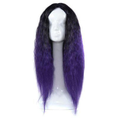 Lolita Long Center Parting Colormix Corn Hot Curly Cosplay Synthetic Wig