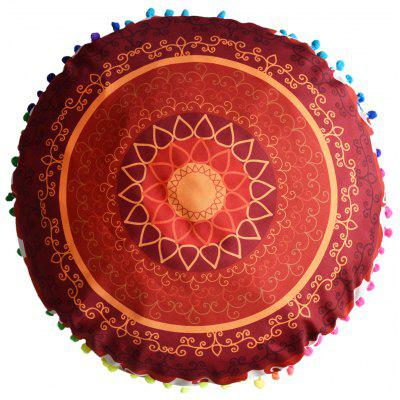 Indian Mandala Cushion Cover Round Pillow Case
