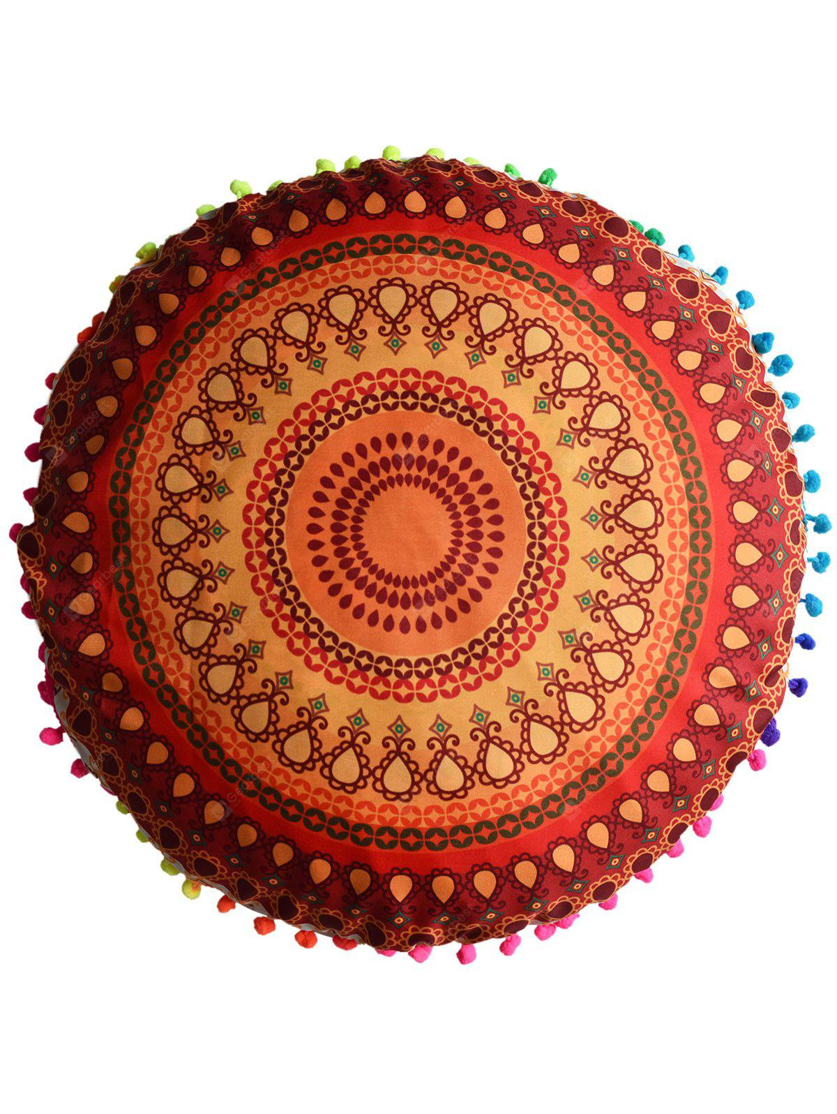 Round Mandala Printed Floor Cushion Pillowcase