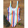 Colorful Rainbow Striped Swimwear - COLORFUL