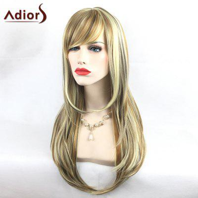 Buy COLORMIX Adiors Colormix Long Side Bang Silky Straight Tail Adduction Highlight Synthetic Wig for $22.12 in GearBest store
