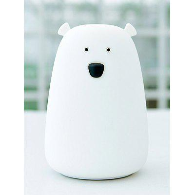 Bear Silicon Rechargeable Color Change LED Night LightNight Lights<br>Bear Silicon Rechargeable Color Change LED Night Light<br><br>Materials: ABS,  Silica Gel<br>Occasion: Party Supplies, Birthday, Home<br>Package Contents: 1 x Night Light, 1 x USB Cable, 1 x English-Chinese Manual<br>Power (W): 0.8W<br>Products Type: Novelty Lighting<br>Size(CM): 11.1*11.1*16CM<br>Style: Novelty<br>Voltage(V): 5V<br>Weight: 0.4364kg