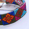 Geometric Flower Embroidery Choker Necklace - MULTICOLOR