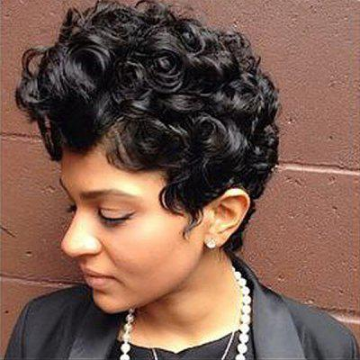Dyed Perm Short Layered Shaggy Curly Synthetic Wig