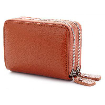 Faux Leather Zip Around Card Bag