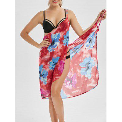 Convertible Floral Wrap Cover Up