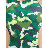 High Neck Camo Racerback One Piece Bademode - COLORMIX