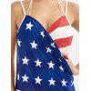 Patriotische amerikanische Flagge Wrap Cover Up Kleid - COLORMIX